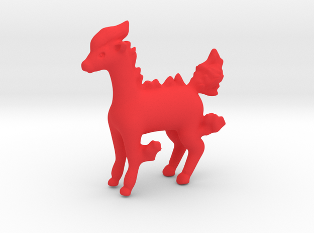 Ponyta in Red Processed Versatile Plastic
