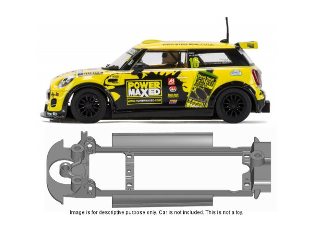 S17-ST4 Chassis for Scalextric Mini F56 SSD/STD in Black Natural Versatile Plastic