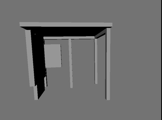 N Gauge Bus Shelter type 3 (4 pack) in Smooth Fine Detail Plastic