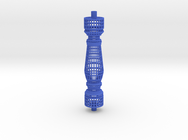 Baluster_wireframe in Blue Processed Versatile Plastic