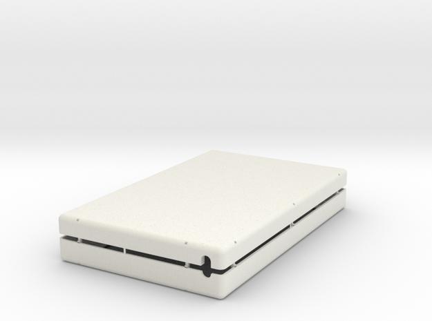 GenAero Monitor 2-Shelf in White Natural Versatile Plastic
