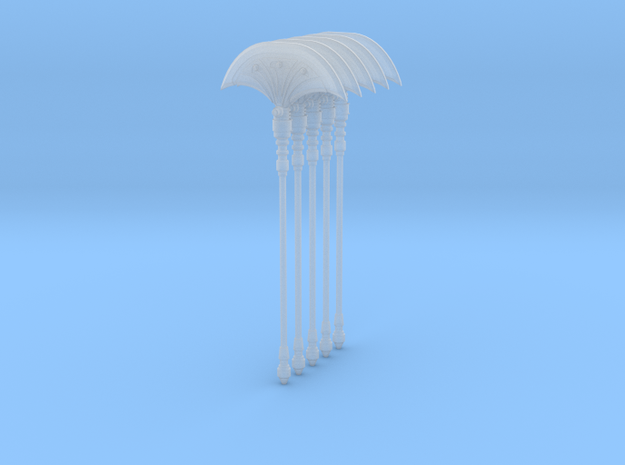 Fan Axe Single 004a 5up in Smooth Fine Detail Plastic