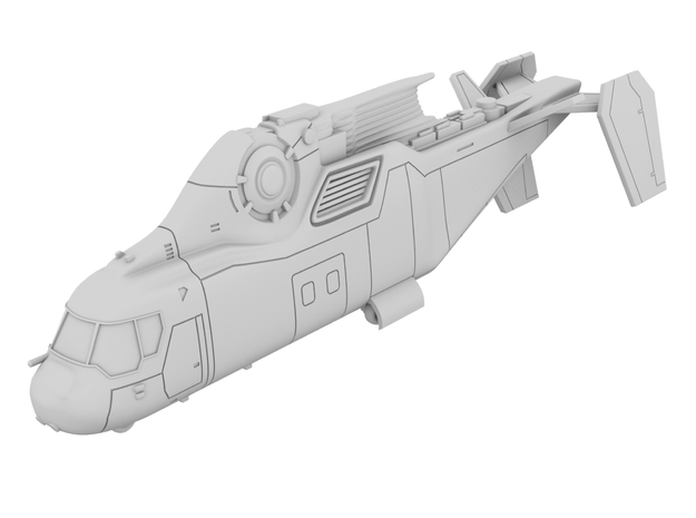 1:144 - Copter [Independence Day - Resurgence] in White Natural Versatile Plastic
