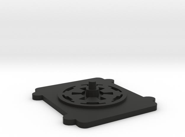X-Wing miniatures Container Base in Black Natural Versatile Plastic