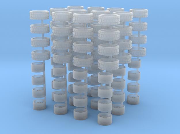 ATS Cup-Felgen und Reifen für H0 1:87 PKW - 12 Set in Smoothest Fine Detail Plastic