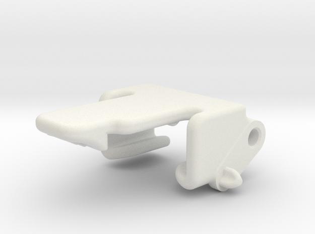 RG BK Transponder Bracket in White Strong & Flexible