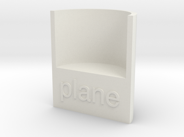 Lasersaur focus:  planar in White Natural Versatile Plastic