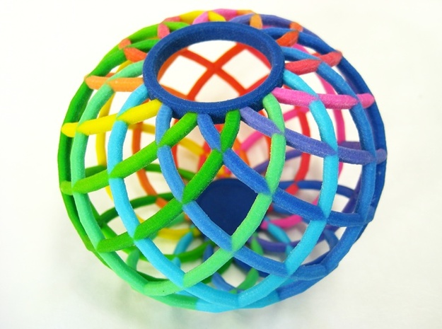 Bowl - Colorful Spectrum in Full Color Sandstone 3d printed An appealing addition to any decor.