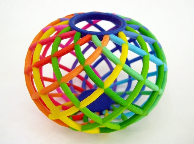 Bowl - Colorful Spectrum in Full Color Sandstone 3d printed The Spectrum Bowl is an excellent holiday gift.