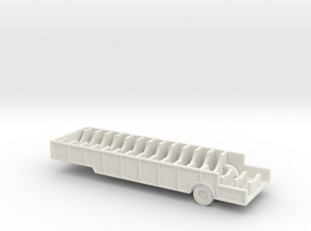 1/200 Scale M482 semitrailer, missile thrust unit, in White Natural Versatile Plastic