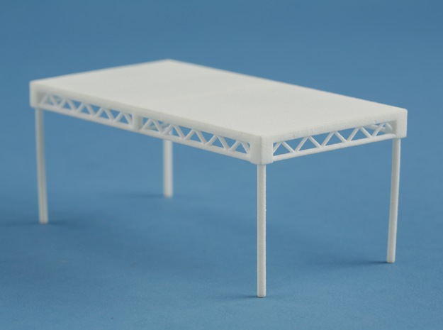 1:24 Steeldeck 8x4, with legs in White Strong & Flexible