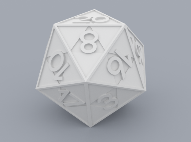 Triforce D20 3d printed