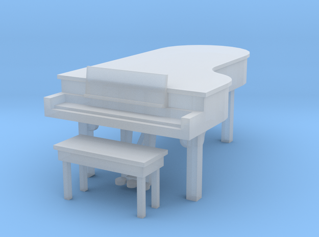 Large Grand And Bench in Smooth Fine Detail Plastic