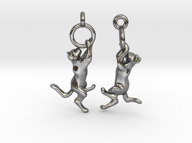Hanging Cat Earrings