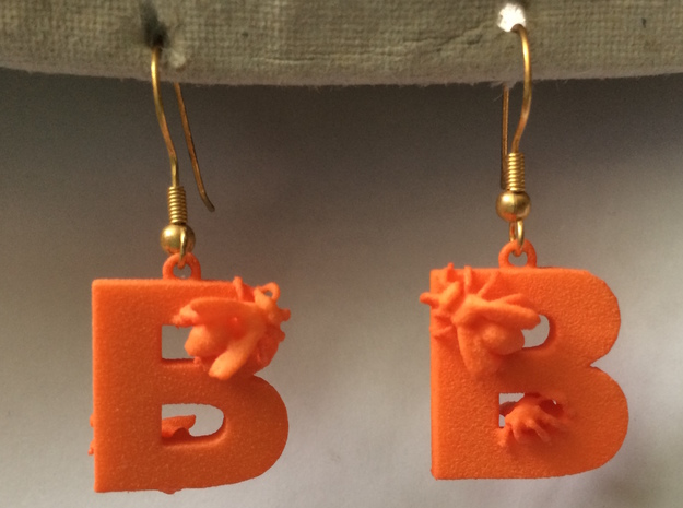 B Is For Bees in Orange Strong & Flexible Polished