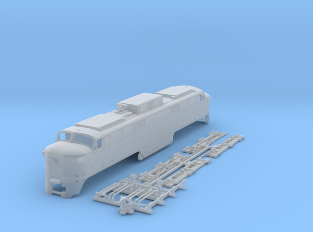 NEP502 N scale EP-5 loco - as built + guides 3d printed