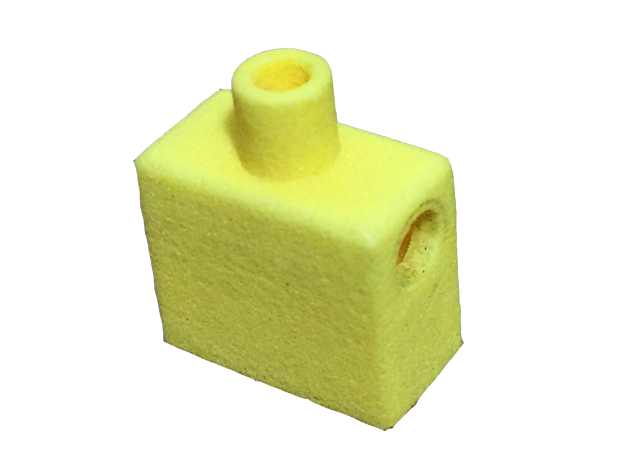 Custom Square Torso for Lego in Yellow Processed Versatile Plastic