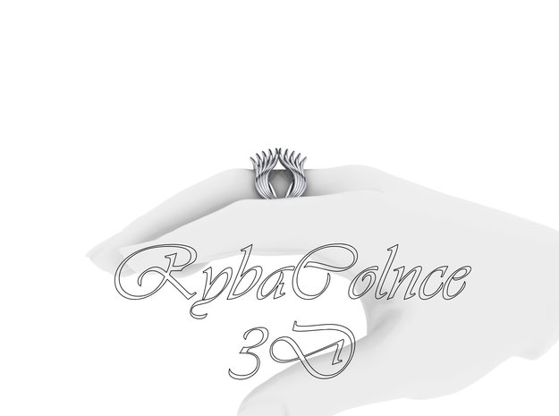 Ring The Knuckle /size 12HK Model / 6US (16.9mm) in Polished Silver