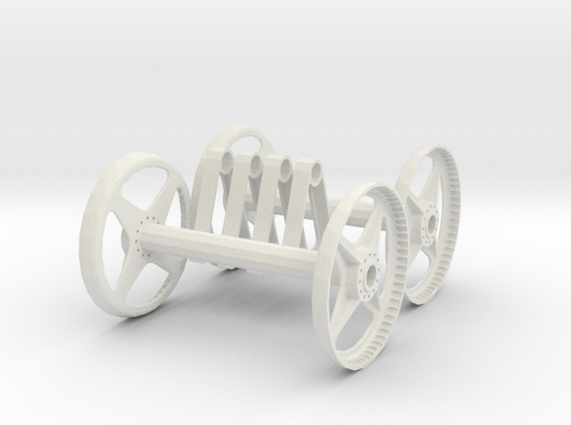 Hose rolls for RC fire truck, 1:10/1:12 Scale in White Natural Versatile Plastic