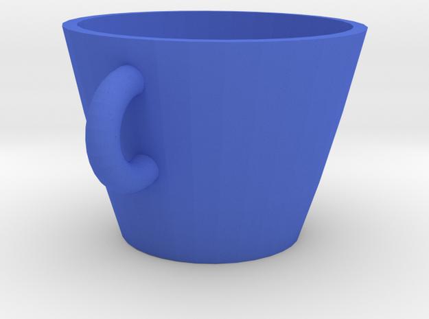 Cup in Blue Processed Versatile Plastic: Medium