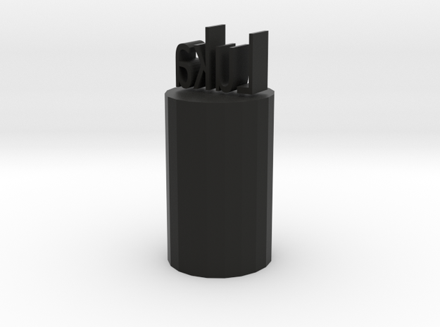 Luka Pencil topper in Black Natural Versatile Plastic