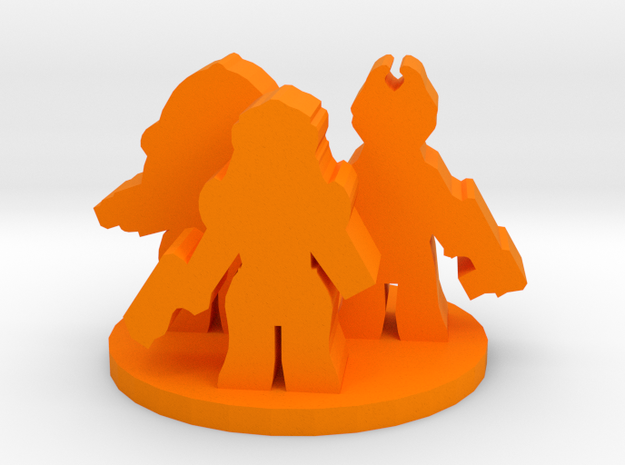 Game Piece, Alien Mercenaries in Orange Processed Versatile Plastic