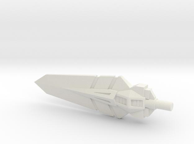 Grand Sword, 5mm in White Natural Versatile Plastic