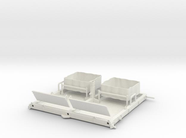 01A-LRV - Central Platform in White Natural Versatile Plastic