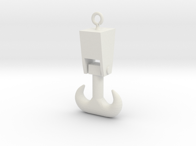 Forged Double Hook - Ring G 22.5:1 Scale in White Natural Versatile Plastic