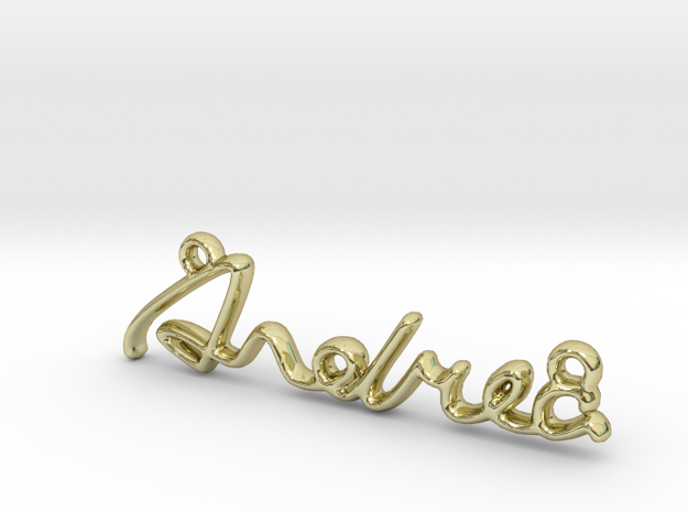 ANDREA Script First Name Pendant in 18k Gold Plated Brass