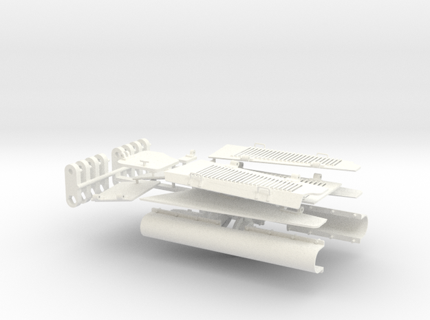 1:16scale TYPE97 TANK  All Hatches V1.2 in White Processed Versatile Plastic