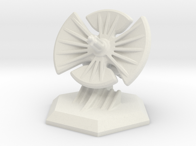 6mm Scale Radar - Objective Marker in White Natural Versatile Plastic