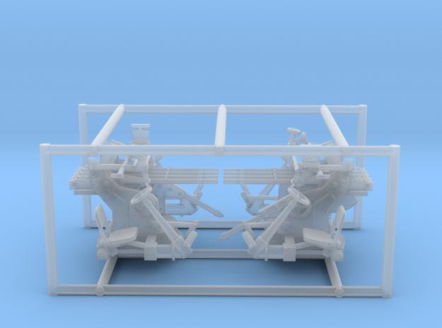 2 X 1/72 IJN Type 93 13.2mm Quad Mount in Smooth Fine Detail Plastic