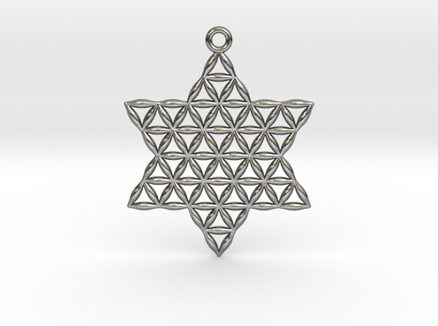 """Star of Life 1.5"""" in Polished Silver"""