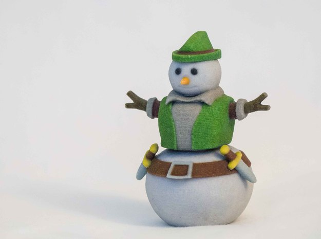 Snowman Thief in Full Color Sandstone