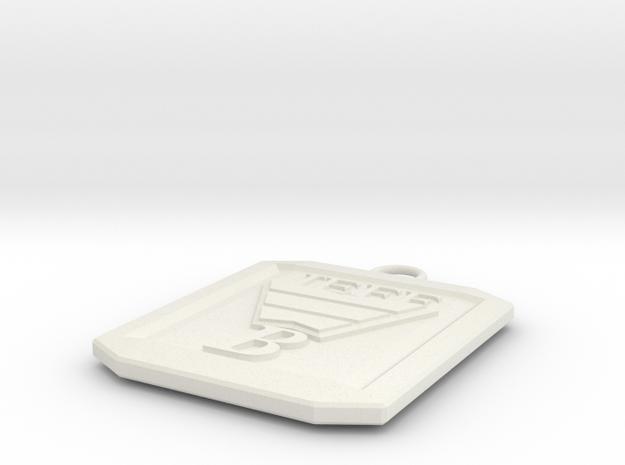 JEFF B MEDAILLON in White Natural Versatile Plastic