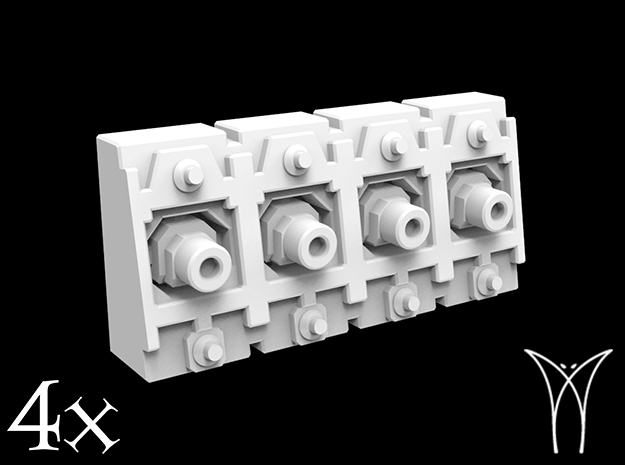 ExMachina Pattern Macrocannons  in White Strong & Flexible