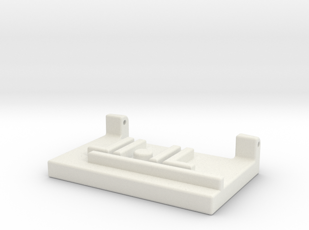 Left Shoulder Fortress Maximus Ramp Adapter in White Natural Versatile Plastic