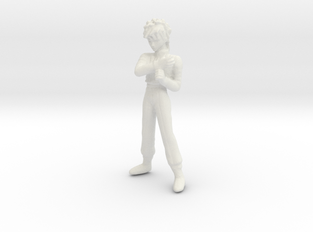 1/24 Racing Driver Standing in White Natural Versatile Plastic