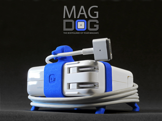 MAGDOG - The Bodyguard of your MagSafe! (85w) in Blue Strong & Flexible Polished