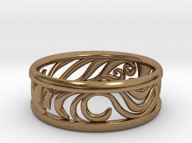 Tom's Ring in Natural Brass