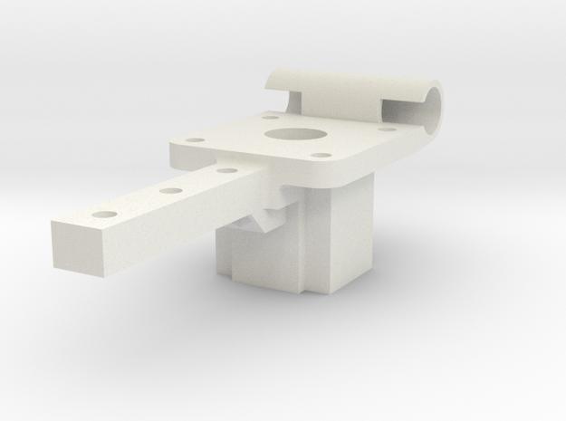Mounting Block V2.stl in White Strong & Flexible