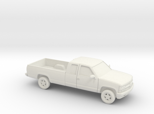 1/87 1994 Chevrolet Silverado Ext. Cab Long Be in White Natural Versatile Plastic