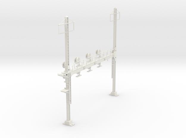 HO Scale PRR W-signal Beam 4 Track  W 2 PHASE R in White Natural Versatile Plastic