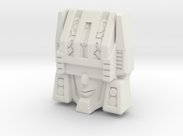 "R63 - ""Thinktank"" Face (Titans Return) in White Strong & Flexible"