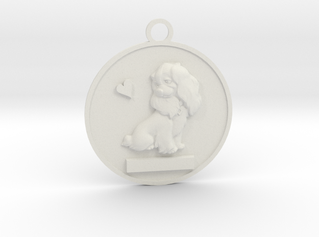 Pet Name Pendant in White Strong & Flexible: Small