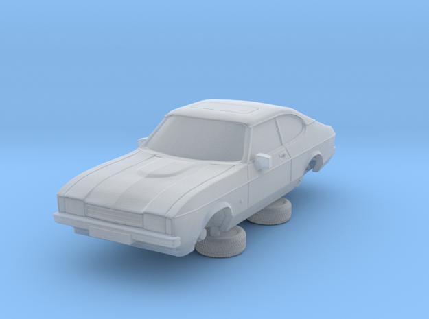 1-87 Ford Capri Mk2 Standard in Smooth Fine Detail Plastic