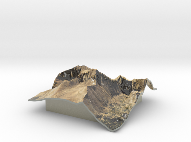 Longs Peak Map in Coated Full Color Sandstone