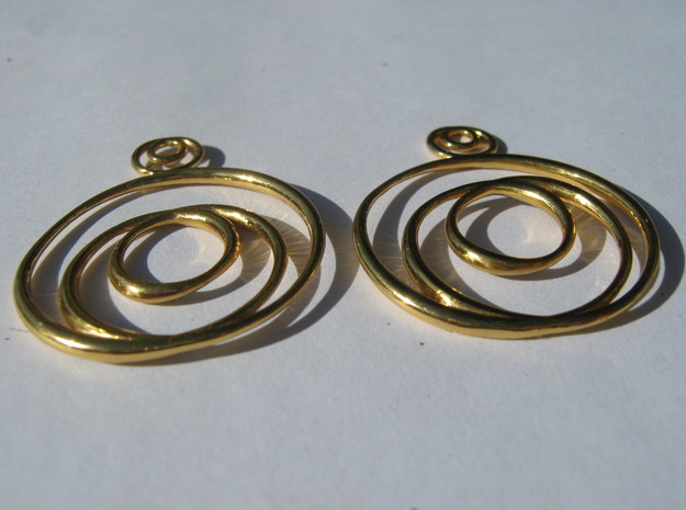 Choncoid Earrings 3d printed