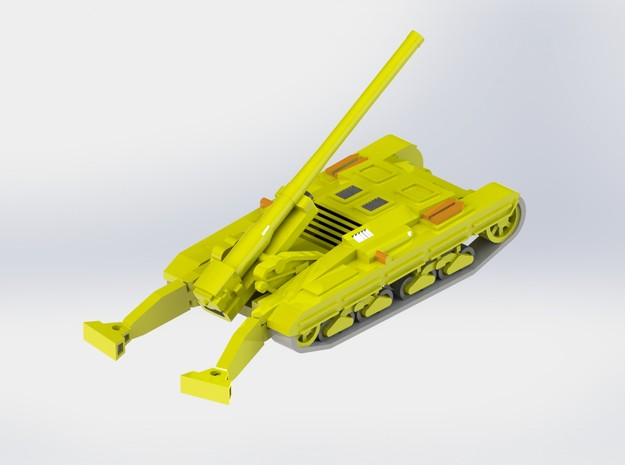 Cannone Semovente 149/40 SPG 1/285 6mm 3d printed Add a caption...